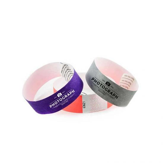 Colorful disposable DuPont paper wristband